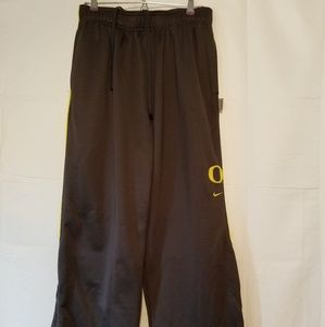 Nike team Oregon ducks warm up pants gray yellow